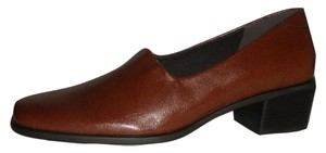 Easy Spirit Brown Faux Leather Flats