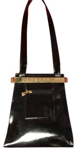 Karl Lagerfeld Patent Leather Avant Garde Shoulder Bag