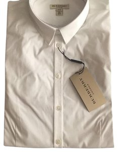 Burberry White Collar shirt Button Down Shirt White