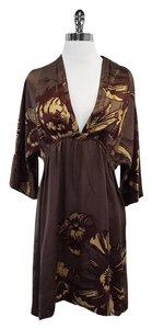 Hale Bob short dress Brown & Plum Floral Silk on Tradesy