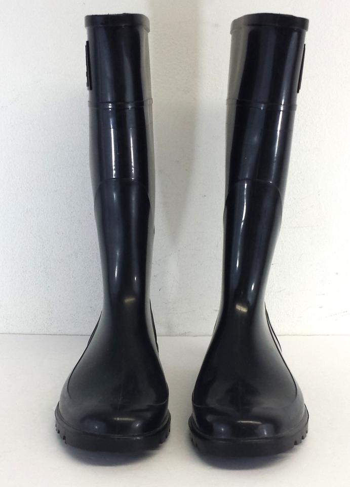 Burberry Black Rubber Rain Boots | Boots & Booties on Sale