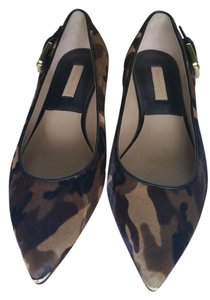 Michael Kors Calf Hair Cap Toe Kitten Style Multi-Color Flats