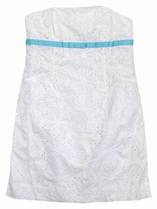 Lilly Pulitzer short dress White Cotton Eyelet Strapless on Tradesy