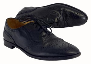 Ralph Lauren Black Leather Oxfords Boots