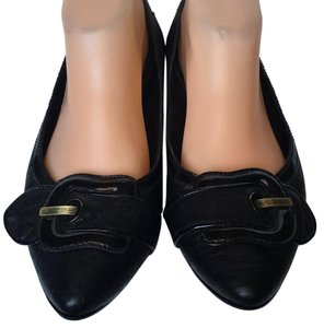 Fendi Buckle Pointed Toe Flats