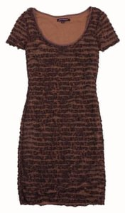 Betsey Johnson short dress Brown Leopard Print Bodycon on Tradesy