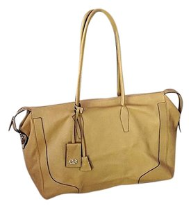 Escada Leather Summer Designer Large Tote Camel Travel Bag