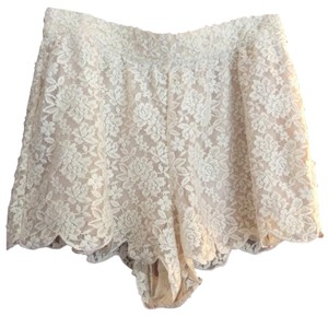 Free People Mini/Short Shorts Cream