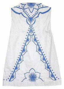 Lilly Pulitzer short dress White & Blue Embroidered on Tradesy