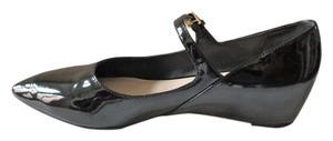 Franco Sarto Patent Leather Black Pumps