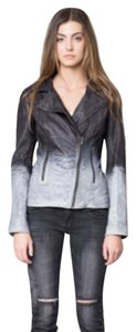 Malibu Road Ombre Grey Leather Leather Jacket