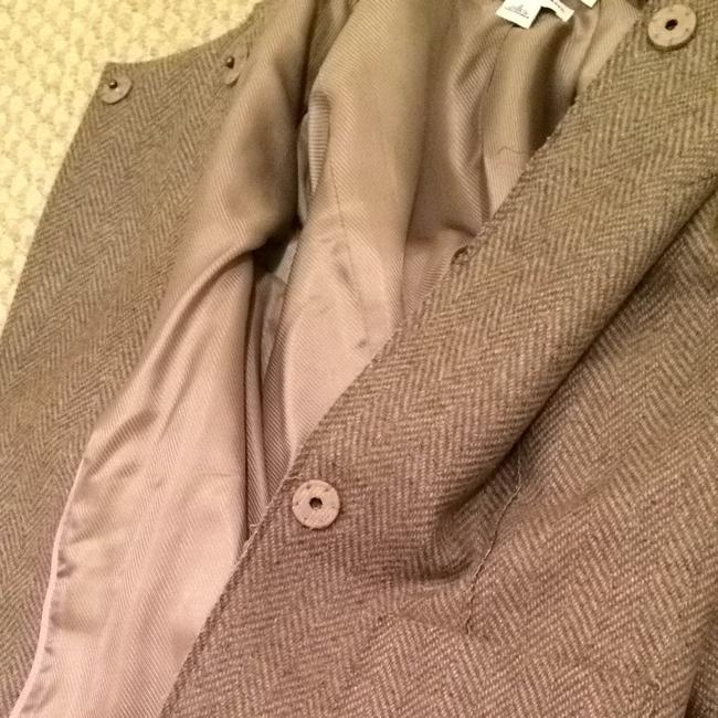 Banana Republic Coat Chanel Rosettes Rose Grey & Taupe Tweed Jacket