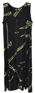 Black, greens and cream Maxi Dress by Willy