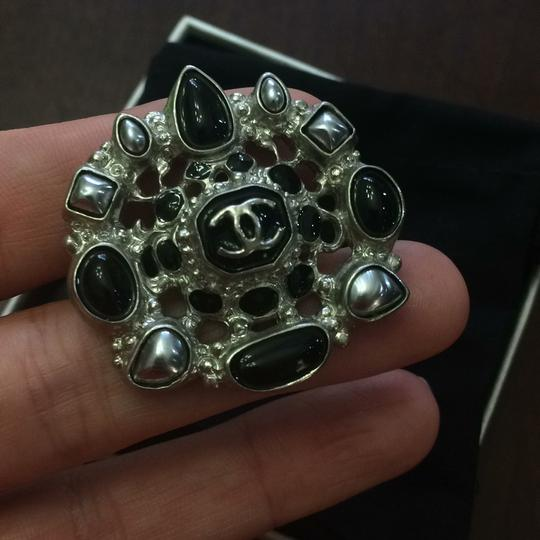 Chanel Chanel Ring Size 52 Metal Blanc
