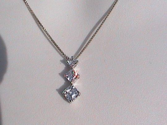 Vintage Sterling Silver YESTERDAY, TODAY & TOMORROW CZ Necklace