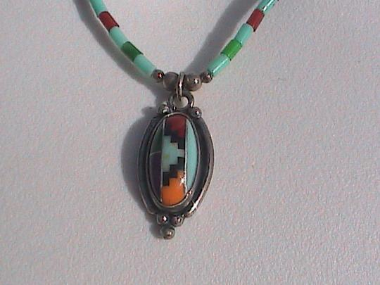 Vintage Sterling Silver Turqouise Necklace