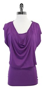 Alice + Olivia Purple Draped Top Dress