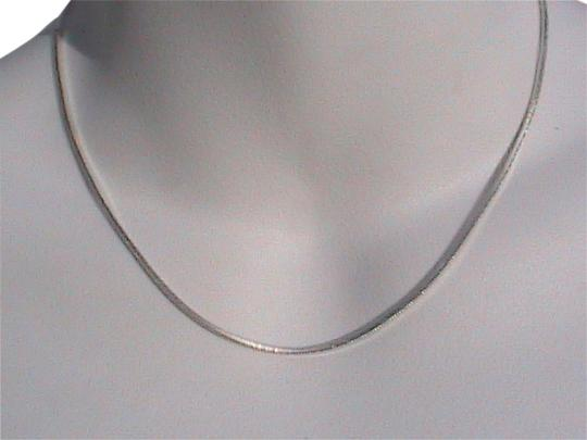 Vintage Italy Sterling Silver Snake Chain