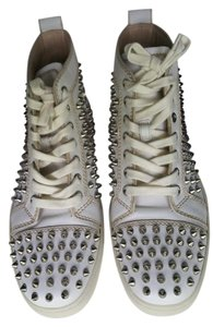 Christian Louboutin Louis Spike Flats White Athletic