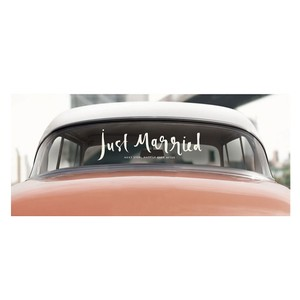 Kate Spade White Just Married Window Cling