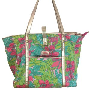 Lilly Pulitzer Tote in Green, Pink