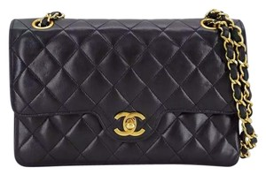 Chanel Vintage Leather Lambskin Shoulder Bag