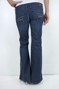 Frankie B B 3 Super Low Rise Bell Studded Pocket Stretch Mojave Flare Leg Jeans