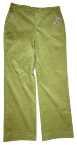 Liz Claiborne Audra Corduroy New No Tags Straight Pants GREEN