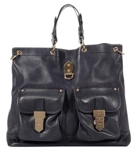 Mulberry Leather Ml.k0413.04 Navy Blue Tote
