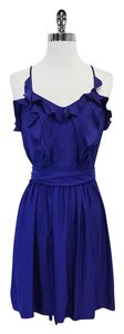 Rebecca Taylor short dress Blue Ruffle Neckline on Tradesy