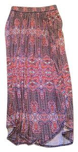 Anthropologie Maxi Skirt Red