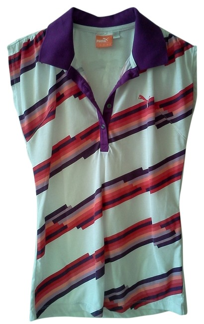 Item - White Purple Multi Activewear Top Size 4 (S, 27)