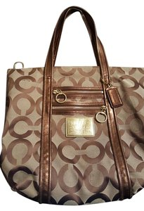Coach Signature Canvas Leather Shoulder Bag