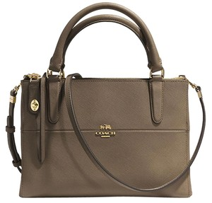Coach Satchel in Olive Fatigue/gold