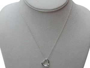 Tiffany & Co. Tiffany & Co. Elsa Peretti Sterling Silver Open Heart Pendant w/Aquamarine new