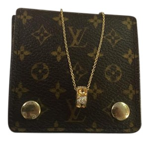 Louis Vuitton Louis Vuitton 18k and Diamond Small Monogram Empreinte Necklace