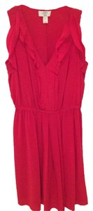 Ann Taylor LOFT short dress Red Silk on Tradesy