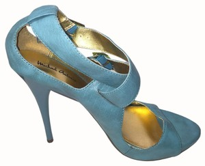 Michael Antonio Open Toe Summer Casual Turquoise Sandals