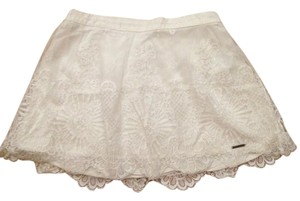 Abercrombie & Fitch Mini Skirt White lace