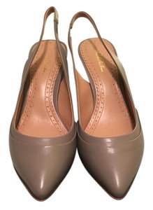 Brooks Brothers Leather Calfskin Slingbacks Brandnew Grey Pumps