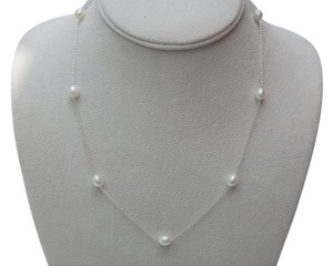 Tiffany Co. Peretti Sterling Silver Pearls By The Yard Necklace 18