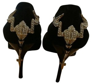 Cesare Paciotti Pump Suede Stiletto Evening Black Pumps