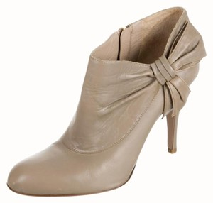 Valentino Leather Bootie Bow Grey Boots