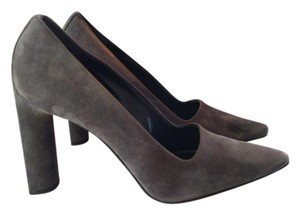 Richard Tyler Suede Charcoal Pumps