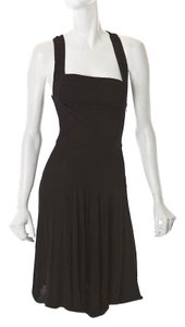 ALAÏA Ruched Racerback Dress