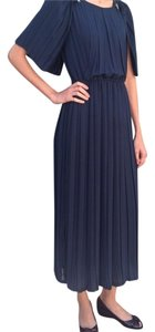 Navy Maxi Dress by 213 Industry Pleated Rare