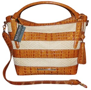 Brahmin Norah Raffia Vineyard Hobo Bag