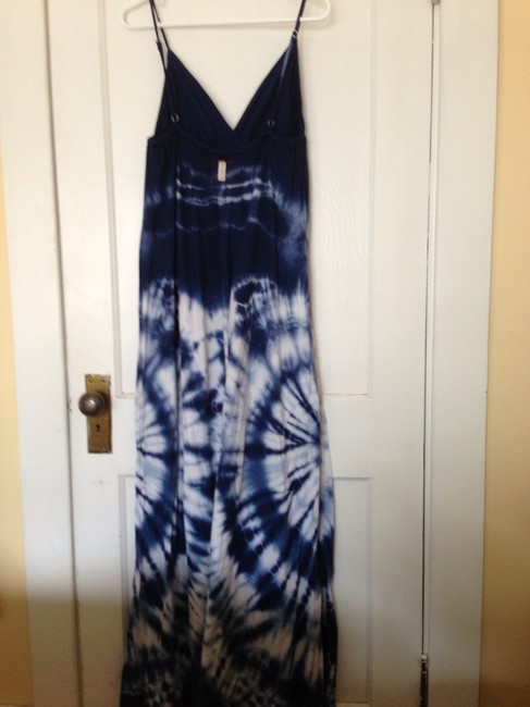 blue and white Maxi Dress by Gypsy05