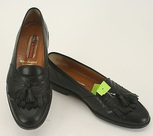 A Testoni Wilkes Bashford 9m Black Leather Mens Loafers B21