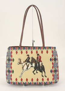 Other Bueno Toteables Multi Rhinestones Beads Horse B138 Tote in Tan Brown Black White Red Blue Green